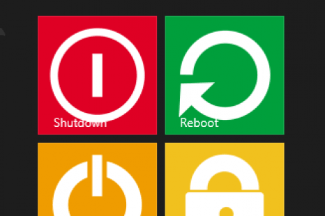 Windows 8 and 8.1 Custom Shutdown tiles