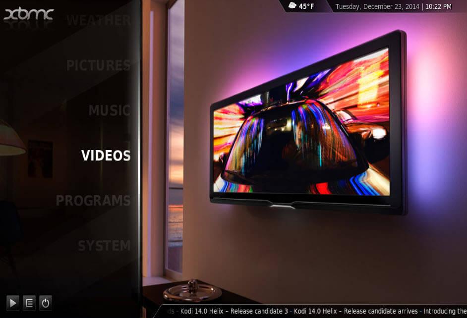 XBMC 10.0 Homescreen