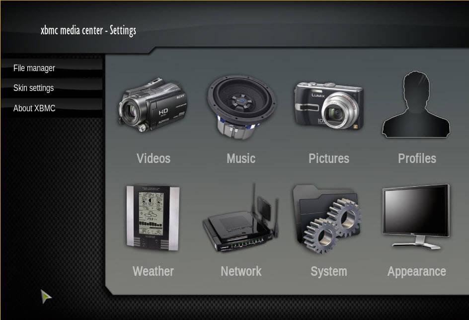 XBMC 9.11 Settings