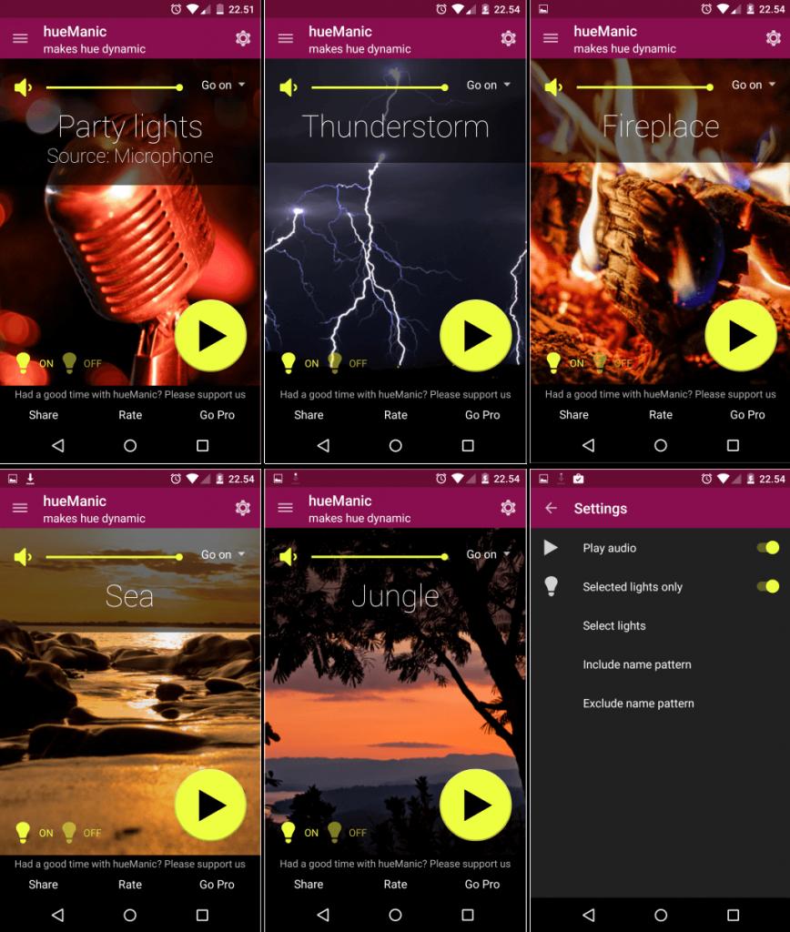 hueManic app Android