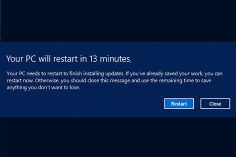 Avoid Windows Update Restarting Automatically