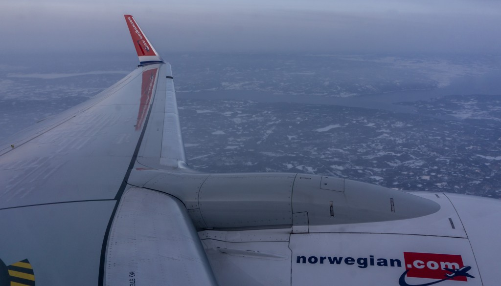 over norway