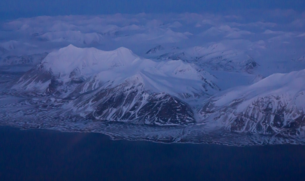 flying over Svalbard