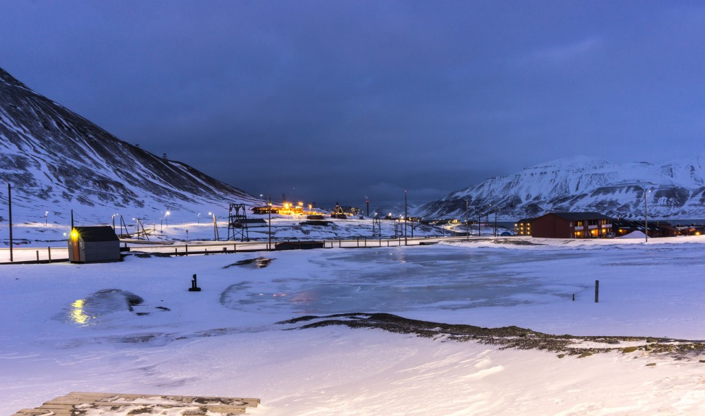 View over Longyearbyen