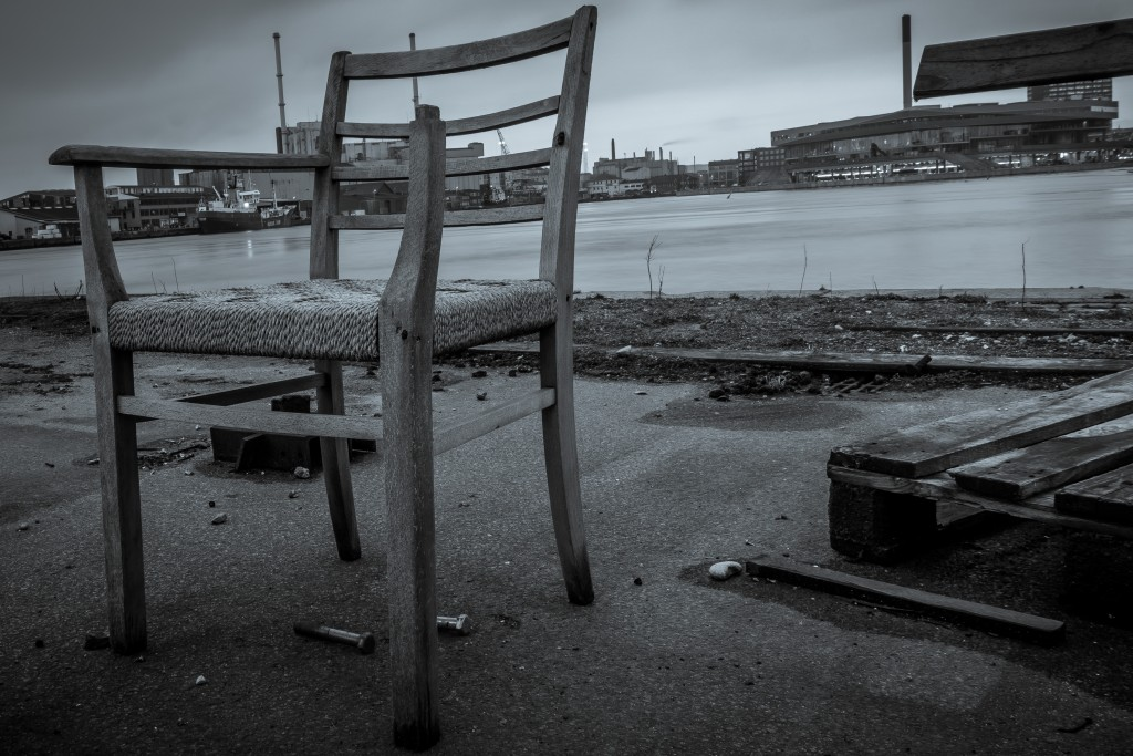Abandoned chair at the Docks