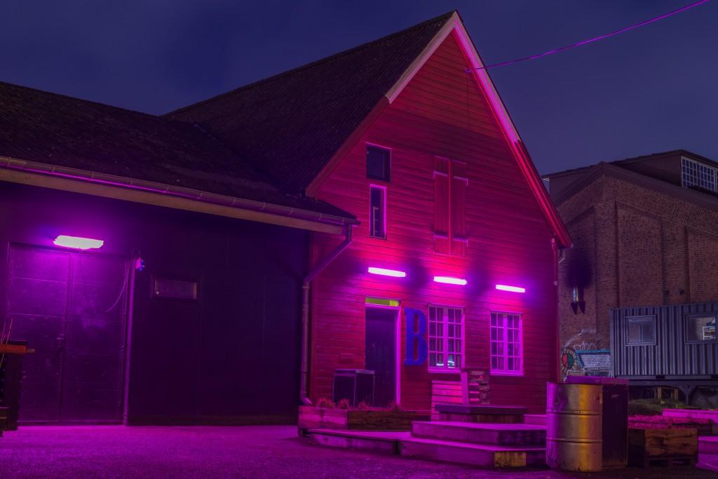 Neon lights Godsbanen Aarhus