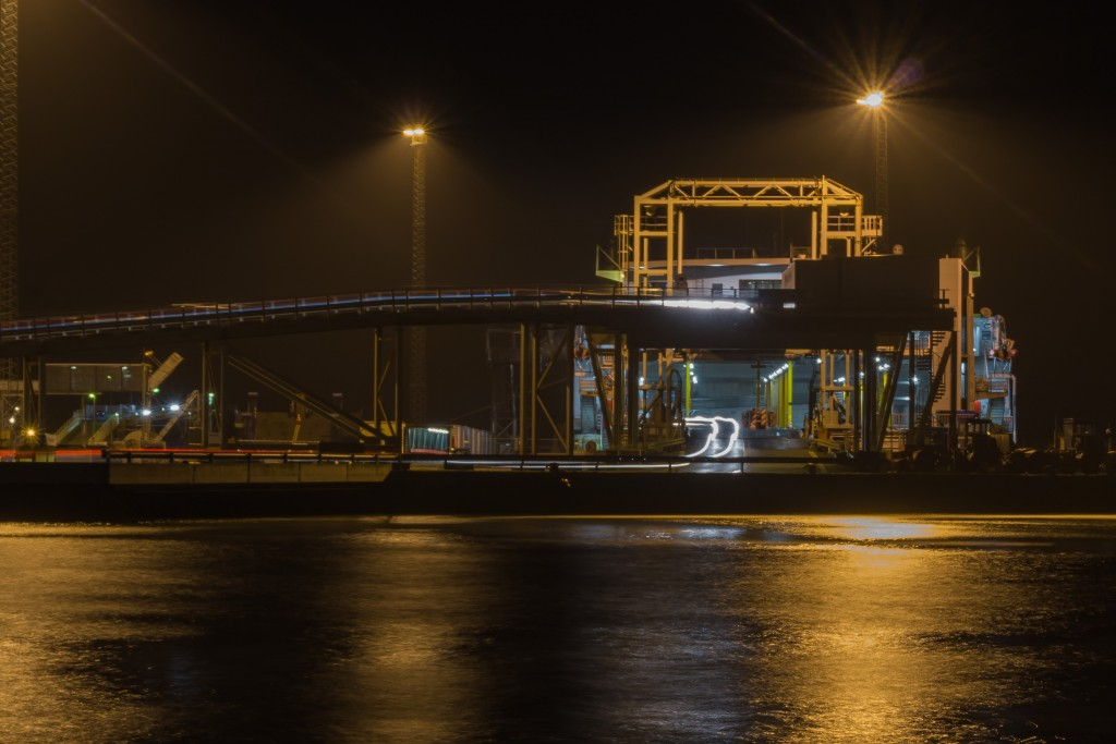 Unloading ferry at Aarhus docks