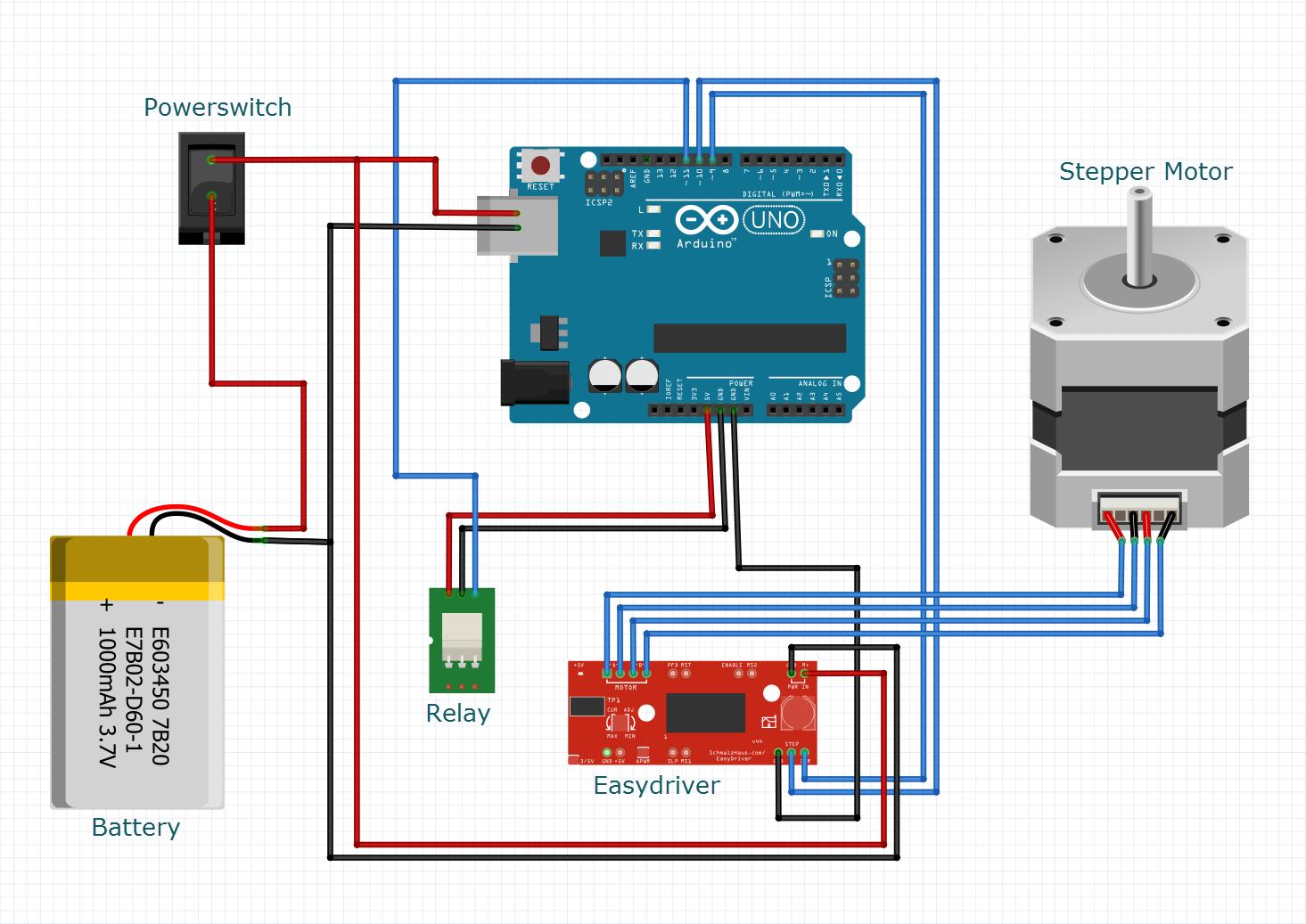 Camera slider schematics for Stepper motor camera slider