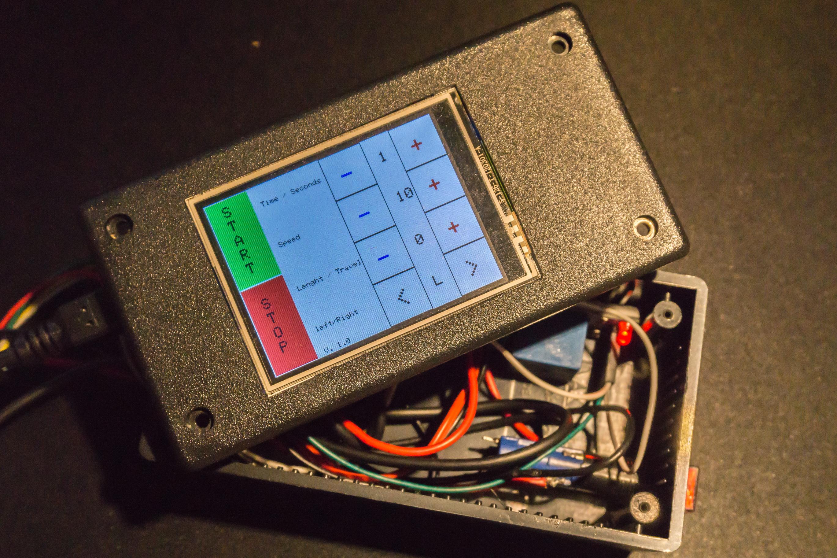 Arduino code for the camera slider pixeljunk