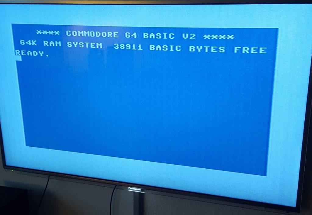 Comodore 64 start screen